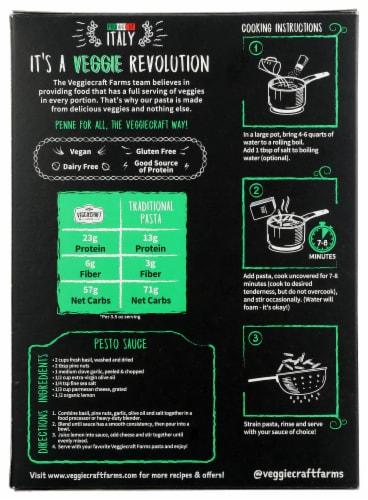 Veggiecraft® Farms Cauliflower Penne Pasta Perspective: back