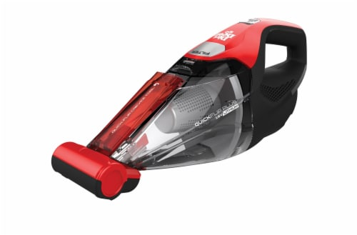 Dirt Devil Quick Flip Plus Handheld Vacuum Cleaner - Red/Black Perspective: back