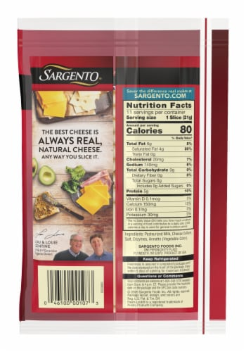 Sargento Natural Muenster Cheese Slices Perspective: back