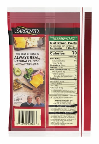 Sargento Natural Provolone Cheese Slices Perspective: back