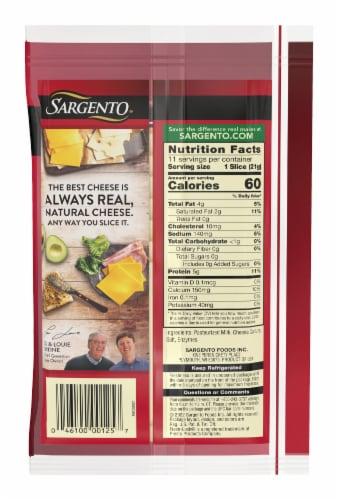 Sargento Natural Mozzarella Cheese Slices Perspective: back