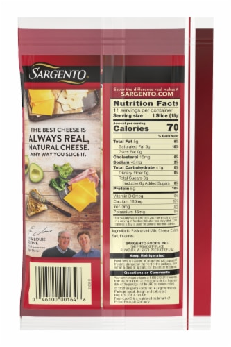 Sargento Natural Baby Swiss Cheese Slices Perspective: back