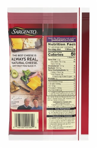 Sargento Reduced Fat Pepper Jack Cheese Slices Perspective: back