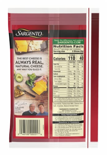 Sargento Ultra Thin Provolone Cheese Slices Perspective: back