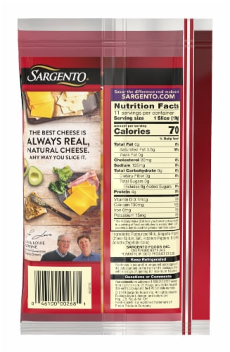 Sargento Natural Colby-Pepper Jack Cheese Slices 11 Count Perspective: back