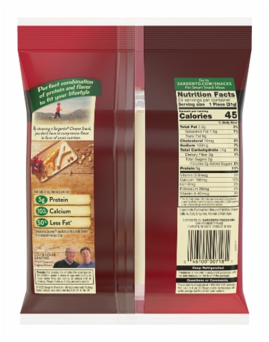 Sargento Light String Cheese Sticks Perspective: back