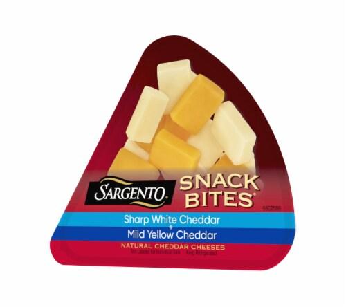 Sargento Sharp White Cheddar and Mild Cheddar Snack Bites Perspective: back