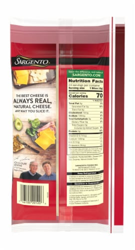 Sargento Natural Smoked Provolone Sliced Cheese Perspective: back