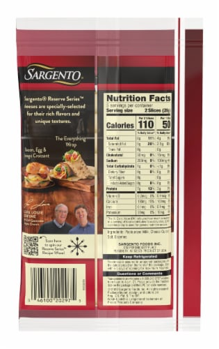 Sargento Reserve Series Fresh Asiago Cheese Slices Perspective: back