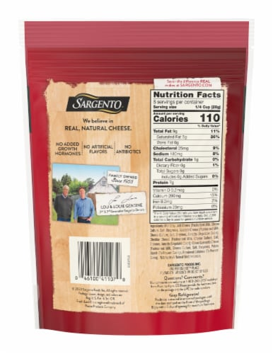 Sargento® Off the Block Shredded 4 Cheese Mexican Blend Perspective: back