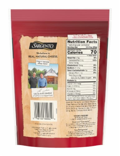 Sargento Reduced Fat Mozzarella Shredded Cheese Perspective: back