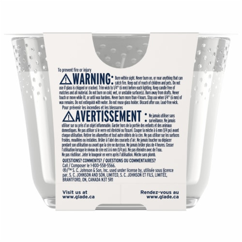 Glade Alluring Sheer Vanilla Embrace 3 Wick Scented Candle Perspective: back