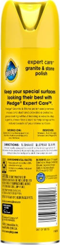 Pledge Citrus Sunshine Granite & Marble Polish Cleaner Spray Perspective: back