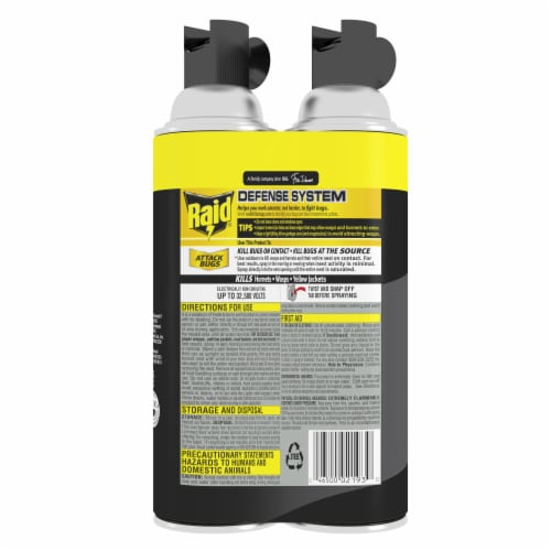Raid® Wasp and Hornet Spray Value Pack Perspective: back