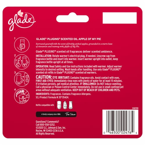 Glade Limited Edition Apple of My Pie Plug Ins Refill 5 Count Perspective: back