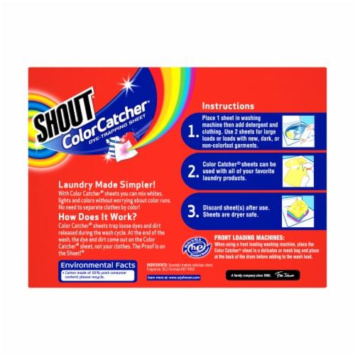 Shout Color Catcher Sheets Perspective: back