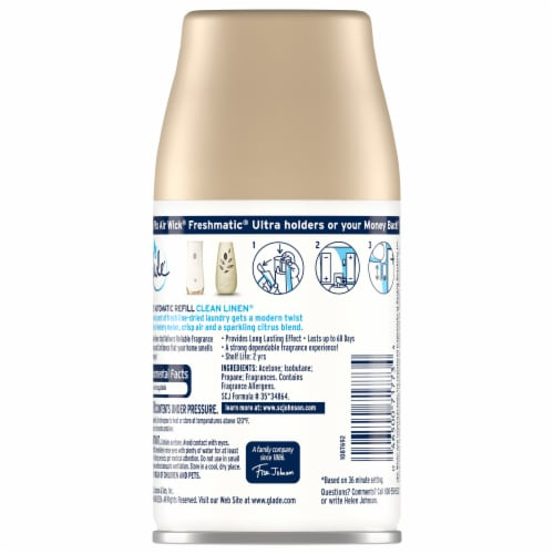Glade Automatic Spray Clean Linen Refill Perspective: back