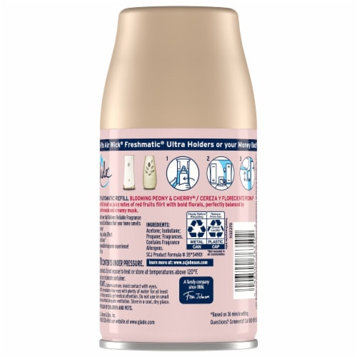 Glade® Blooming Peony & Cherry Automatic Spray Refill Perspective: back