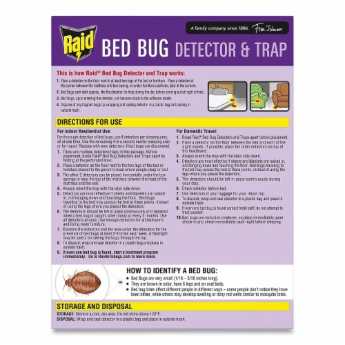 Raid® Bed Bug Detector and Trap Perspective: back