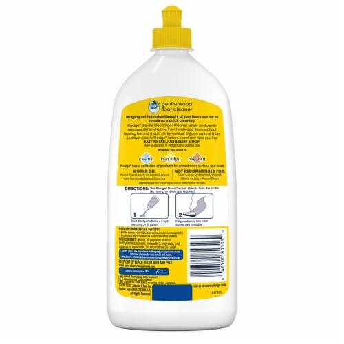 Pledge Lemon Scent Gentle Wood Floor Cleaner Perspective: back