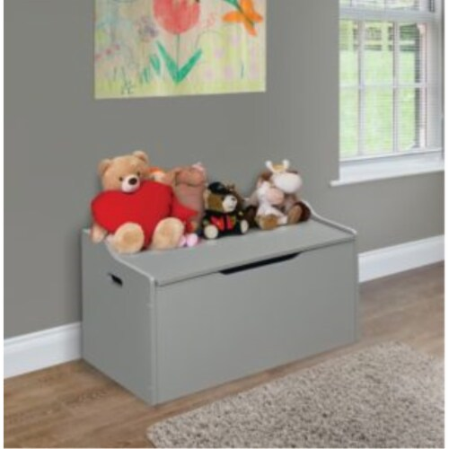 Bench Top Toy Box - Gray Perspective: back