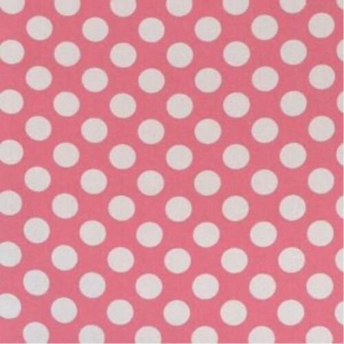 Folding Nursery Basket/Storage Cube - Pink Polka Dot Perspective: back