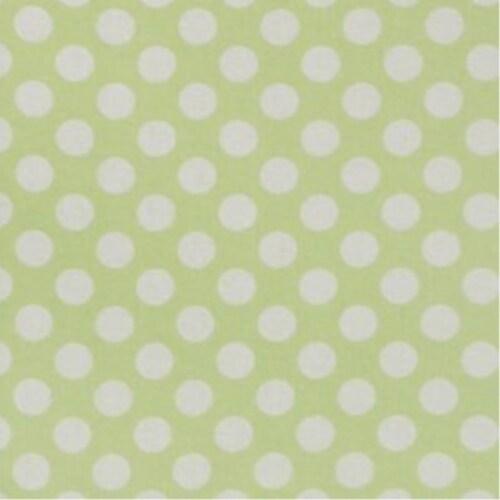 Folding Nursery Basket/Storage Cube - Sage Polka Dot Perspective: back