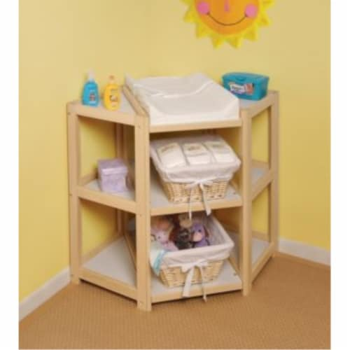 Diaper Corner Changing Table - Natural Perspective: back