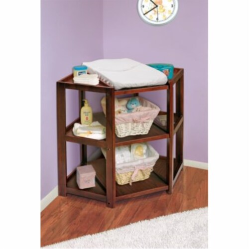 Diaper Corner Changing Table - Cherry Perspective: back
