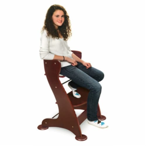 Embassy Wood High Chair with Tray - Cherry Perspective: back