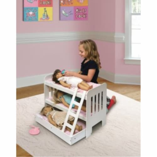 Trundle Doll Bunk Beds w/Ladder Perspective: back