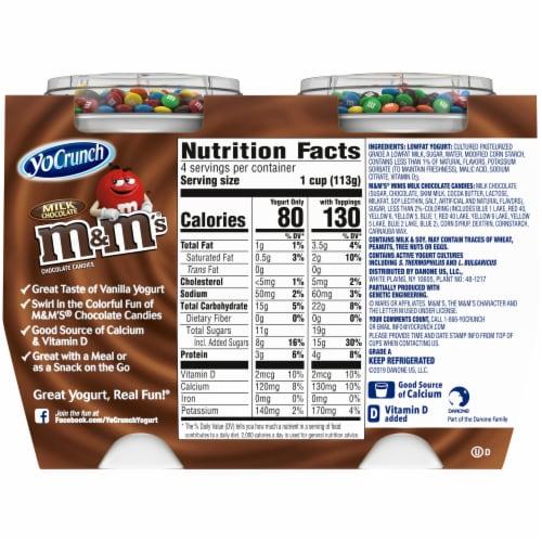 YoCrunch Vanilla Lowfat Yogurt with M&Ms Perspective: back