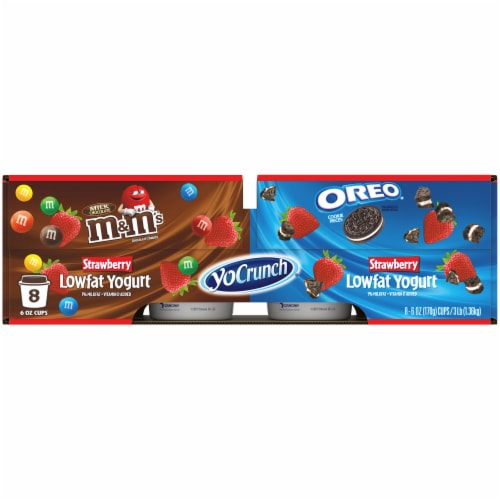 YoCrunch® Strawberry Lowfat Yogurt with OREO® and M&M's® Variety Pack Perspective: back