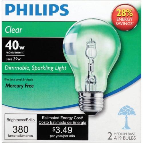 Philips EcoVantage 29-Watt (40-Watt) Medium Base A19 Light Bulbs Perspective: back