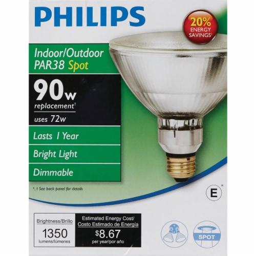 Philips EcoVantage 72-Watt 90-Watt PAR38 Indoor & Outdoor Halogen Spotlight Bulb Perspective: back
