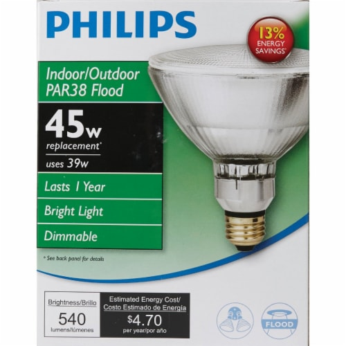Philips 39w Par38 Hal Bulb 419424 Perspective: back