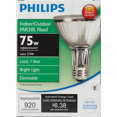Philips 53-Watt (75-Watt) PAR30 Halogen Floodlight Bulb Perspective: back