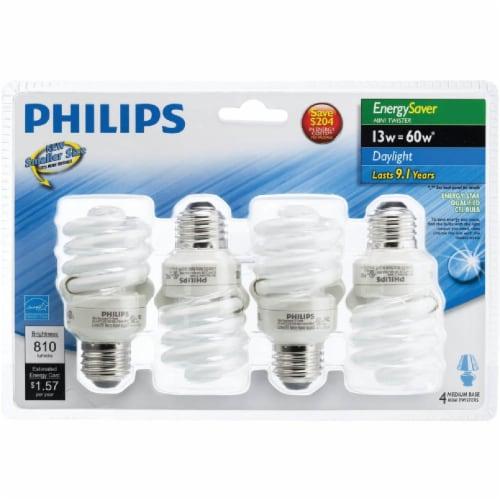Philips EnergySaver 13-Watt (60-Watt) Medium Base CFL Light Bulbs Perspective: back