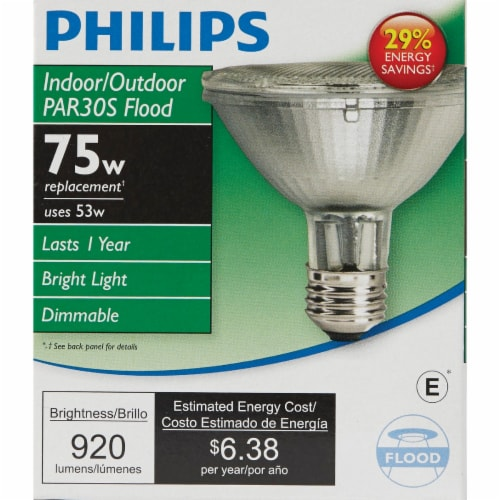 Philips 53-Watt (75-Watt) PAR30S Floodlight Bulb Perspective: back