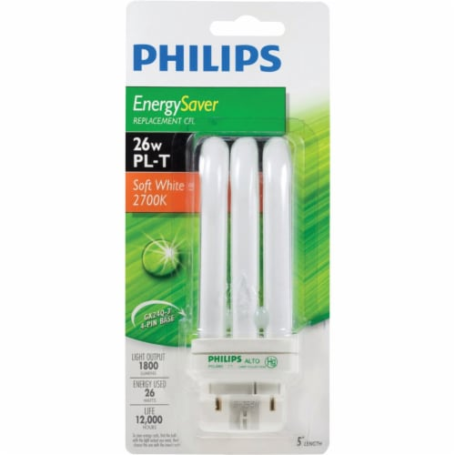 Philips 100W Equivalent Soft White GX24 Base PL-T CFL Light Bulb 458455 Perspective: back