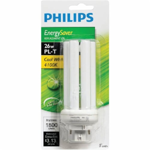 Philips 100W Equivalent Cool White GX24Q-3 Base PL-T CFL Light Bulb 458463 Perspective: back