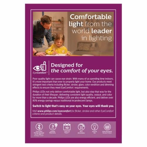 Philips 8-Watt A19 LED Light Bulbs Perspective: back