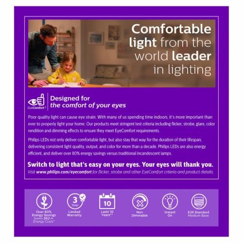 Philips 9-Watt (60-Watt) A19 LED Light Bulbs Perspective: back