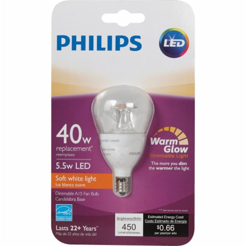 Philips 5.5w A15 Wg Med Led Bulb 463967 Perspective: back