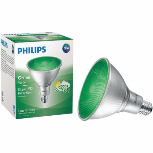 Philips 13.5-Watt (100-Watt) Green PAR38 Medium LED Floodlight Light Bulb Perspective: back