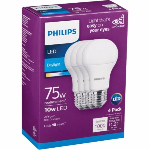 Philips 10-Watt (75-Watt) A19 LED Light Bulbs Perspective: back