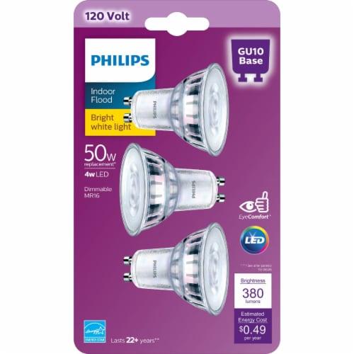 Philips 4-Watt (50-Watt) GU10 Base MR16 Indoor LED Floodlight Bulbs Perspective: back