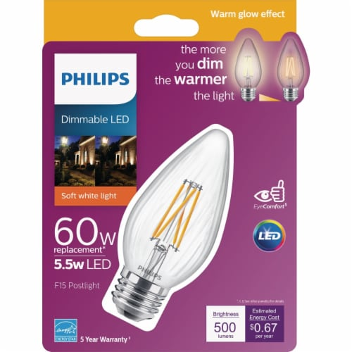 Philips 60w F15 Wg Led Post Bulb 547959 Perspective: back