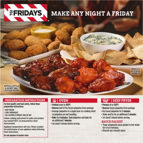 TGI Fridays Cheddar Cheese Stuffed Jalapeno Poppers Perspective: back