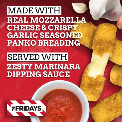 TGI Fridays Mozzarella Sticks with Marinara Sauce Perspective: back